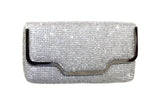 Crystal Rhinestone Pavéd Envelope Clutch Handbag Purse - 3 Colors