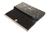 Crystal Rhinestone Pavéd Envelope Clutch Handbag Purse - Crystal