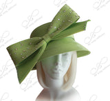 Medium Width Turn-Up Brim With Bow - 3 Colors