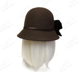 Soft As Cashmere Felt Bucket Cloche - Brown