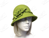 Softest Felt Bell Cloche Bucket Hat - Chartreuse