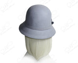 Softest Felt Bell Cloche Bucket Hat - Periwinkle Blue