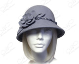 Softest Felt Bell Cloche Bucket Hat - Periwinkle