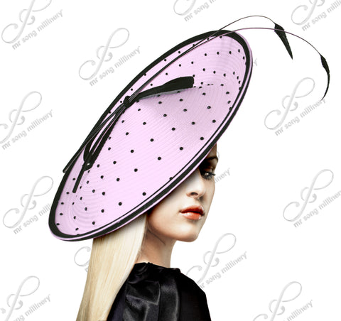 Royal Ascot Polka Dot Dish Fascinator - 5 Colors