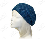 Jewel Studded Soft Knitted Beret Beanie - Assorted Colors