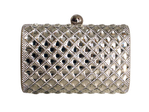 Mr. Song Millinery Art Deco Gold and Crystal Rhinestoned Clutch Evening Hand Bag