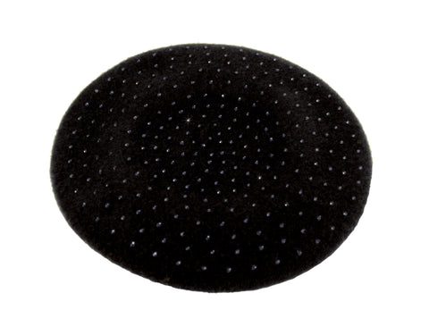 Wool Felt Studded Beanie Beret - Assorted Colors