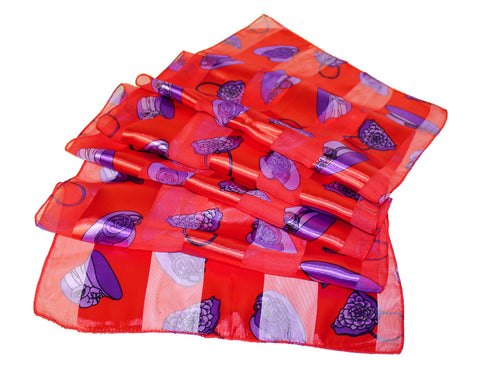 The Red Hat Society Satin Scarf