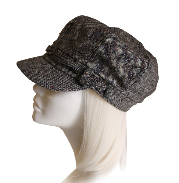 Mr. Song Millinery Newsboy Cadet Cap - Brown