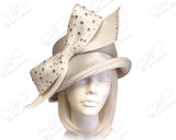 Medium Width Brim Hat With Rhinestone Bow - 4 Colors