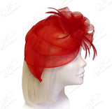 All-Season Crin Fascinator With Signature Accents - Red