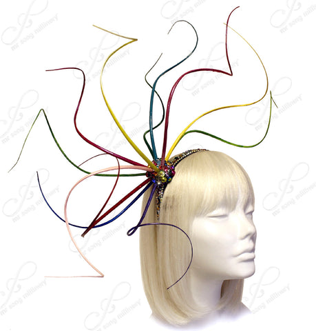 Meduse Amuse Bijou Fascinator - Multicolor