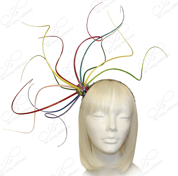 Mr. Song Millinery Meduse Amuse Bijou Fascinator - Multicolor