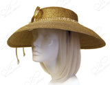 Tagline Tiffany Brim Hatinator With Rhinestone Accent - Gold