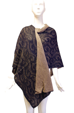 Reversible Shawl Wrap Cape Lace - 2 Colors