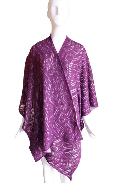 Mr. Song Millinery Reversible Shawl Wrap Cape Lace - 3 Colors