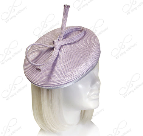 Profile Dish Beanie Fascinator Headband - Lavender
