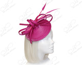 Royal Ascot Derby Dish Beanie Fascinator Headband - Red