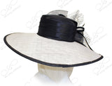 Kentucky Derby Royal Ascot Sinamay Hat - Black/White