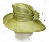 Royal Ascot Derby Sinamay Hat - Sage Green