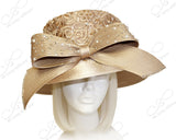 Stovetop Madhatter Crown Hat With Premium Lace - Taupe
