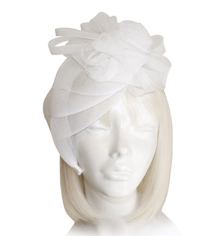 All-Season Crin Fascinator With Floral Accents - 4 Colors