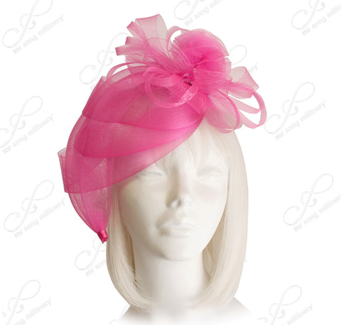 All-Season Crin Fascinator With Floral Accents - 2 Colors