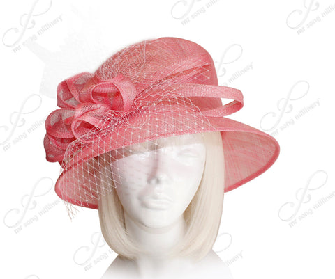 Kentucky Derby Royal Ascot Sinamay Hat With Medium Brim - 3 Colors