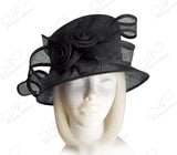Kentucky Derby Royal Ascot Sinamay Hat With Medium Brim - 4 Colors