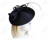 Profile Dome-Dish Headband Fascinator - Navy Blue