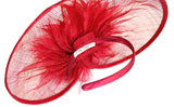 Profile Dish Sinamay Fascinator Headband - Red