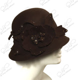 Softest Felt Bell Cloche Bucket Hat - Brown