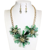 Starburst Necklace Earrings Jewelry Set - 3 Colors