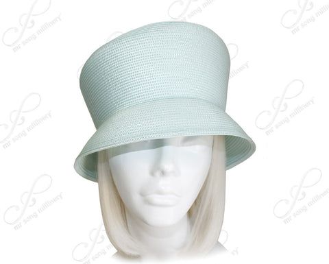 Tagline Straw Slant Crown Hat Body - Assorted Colors