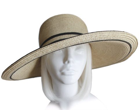 Straw Summer Floppy Sun Hat Wide Brim - 3 Colors
