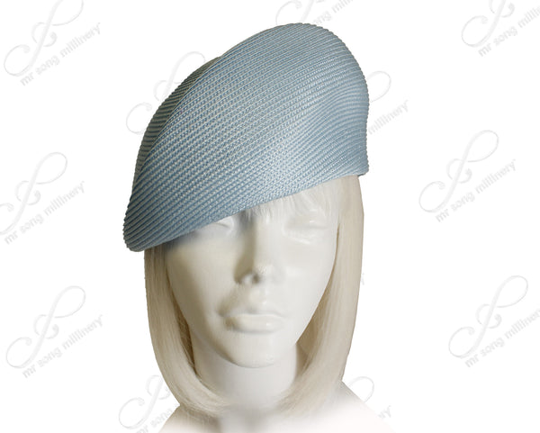 Mr. Song Millinery Tagline Straw Structured Beret Cloche Hat Body - Assorted Colors