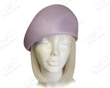 Lavender - Tagline Straw Structured Beret Cloche Hat Body