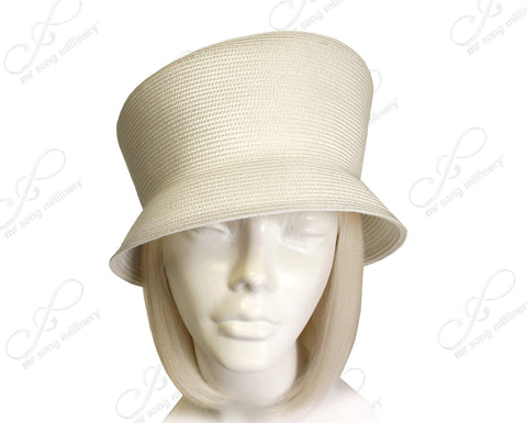 Mr. Song Millinery Tagline Straw Slant Crown Hat Body - Assorted Colors