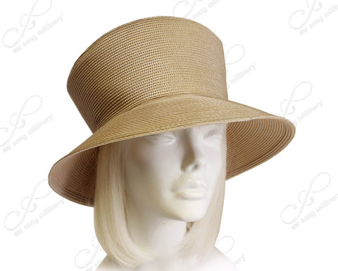 Mr. Song Millinery Tagline Straw Medium Brim Hat Body - Assorted Colors