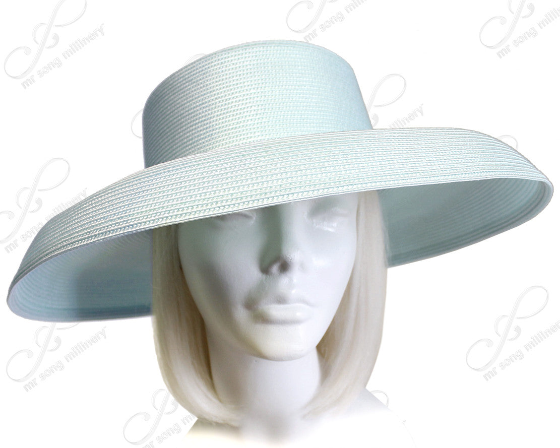 Mr. Song Millinery Tagline Straw Wide Structured Brim Hat Body - Assorted Colors