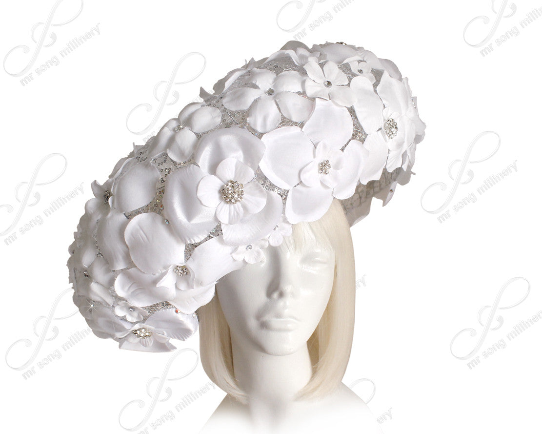 "Mr. Song Millinery ""Birdnest"" Couture Flora Hat - 2 Colors"