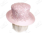 Medium Turn-Up Brim Hat Brim With Premium Lace - Pink