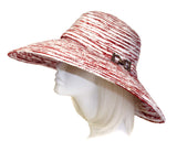 Chenille Wide Brim Hat - Red