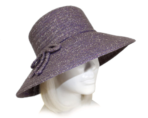 Chenille Wide Brim Hat - 2 Colors