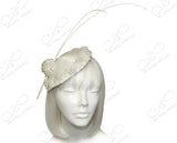 Profile Dish Beanie Fascinator Headband - Pearl