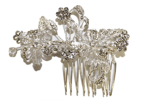 Mr. Song Millinery Crystal Rhinestone Hair Comb - Crystal