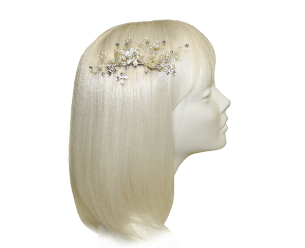 Mr. Song Millinery Pearl & Crystal Rhinestone Hair Comb - Pearl/Crystal