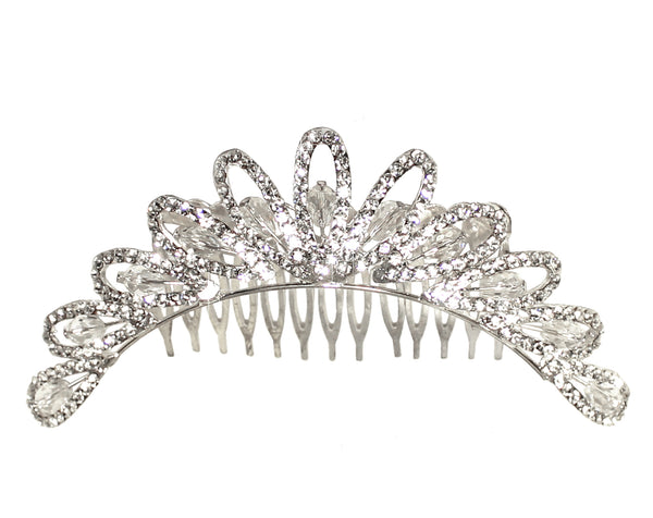 Mr. Song Millinery Crystal Rhinestone Tiara - Crystal