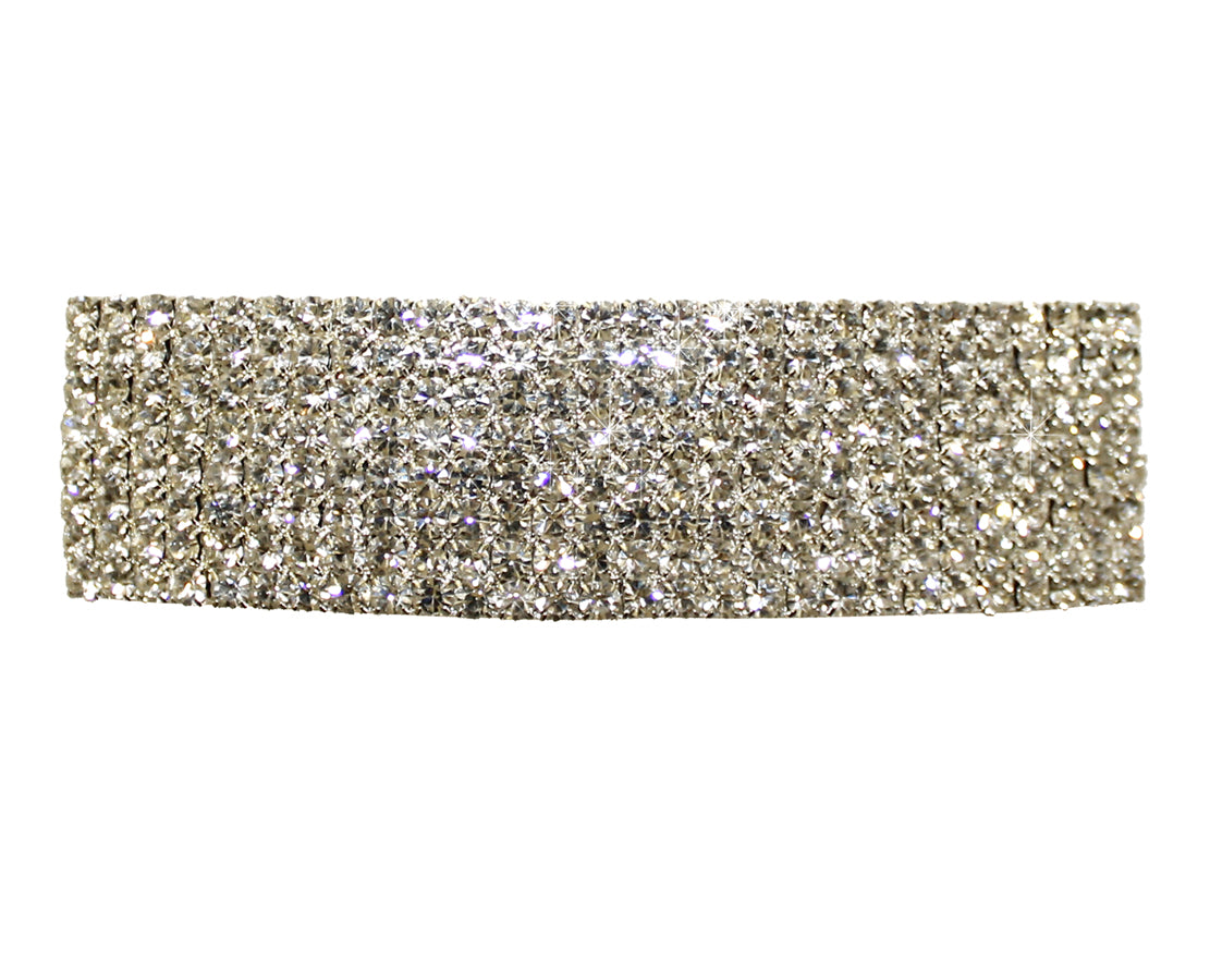 Mr. Song Millinery Rhinestone Hair Barrette Clip - Crystal