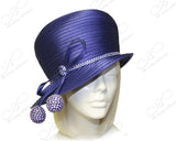 Bubble Cloche Hat With Rhinestone Drops - Purple
